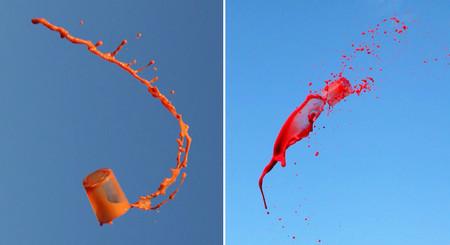 Las curiosas fotografías de bebidas lanzadas al aire de Manon Wethly