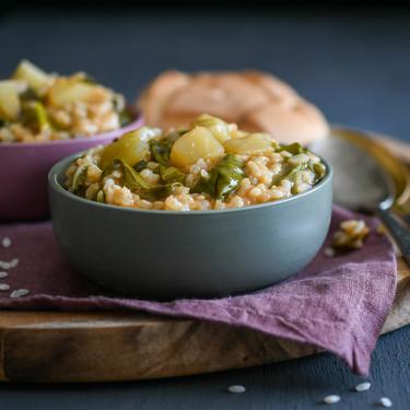 Arroz meloso con acelgas y patata, la receta que conseguirá reconciliarte con esta verdura