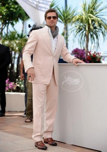 El look de Brad Pitt en el festival de Cannes 2009
