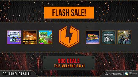 Venta Flash PSN con juegos desde 99 centavos