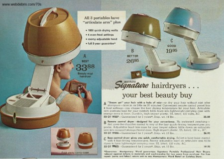 Hair Dryers From 1970
