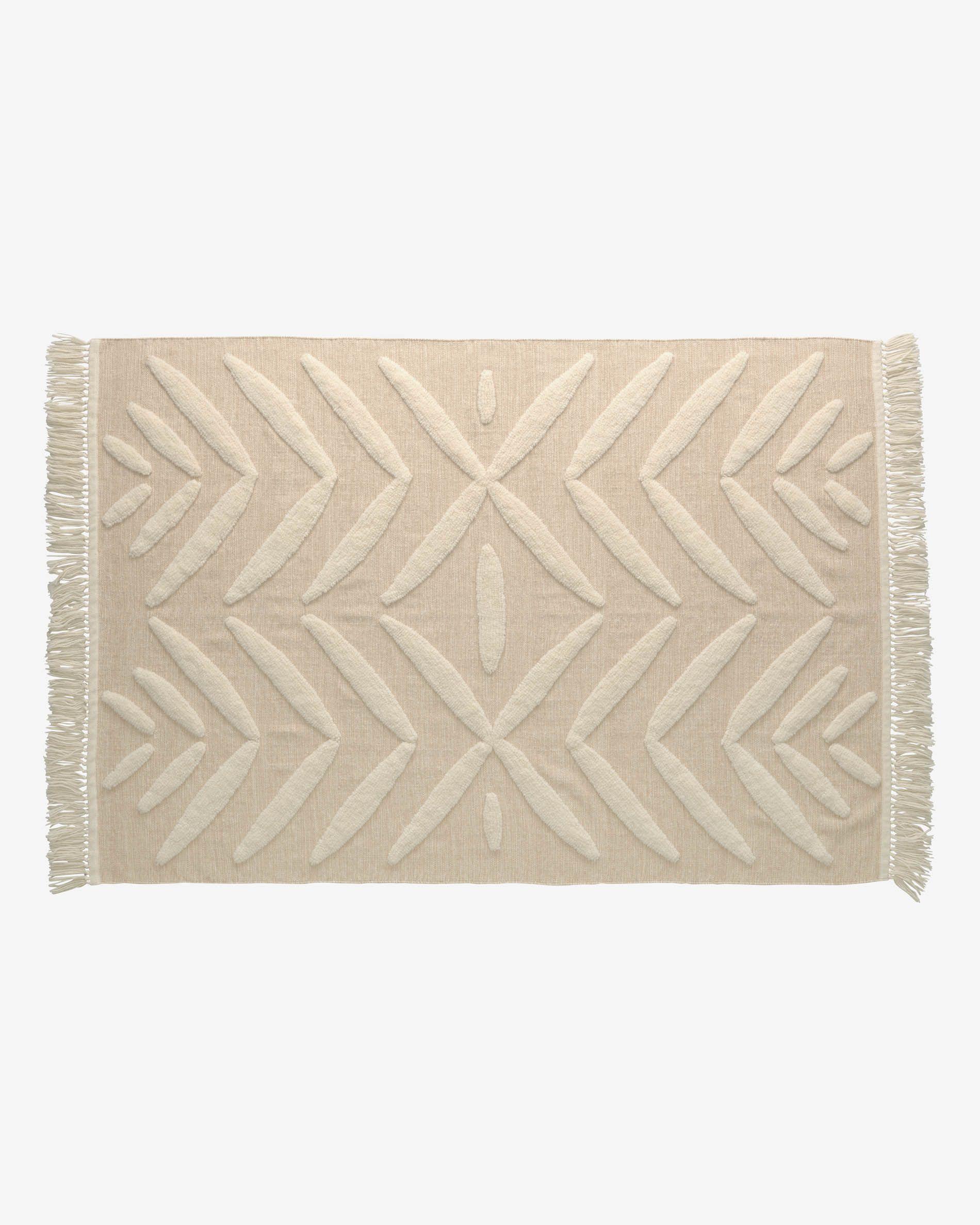 Alfombra Dethra lana y algodón 140 x 200 cm