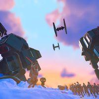 Star Wars se cuela en No Man's Sky con esta increíble recreación de la batalla de Hoth de El Imperio Contraataca