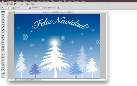Crea tu propia felicitación de Navidad con Photoshop o GIMP