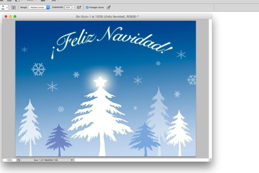 Cómo crear una felicitación de Navidad con Photoshop