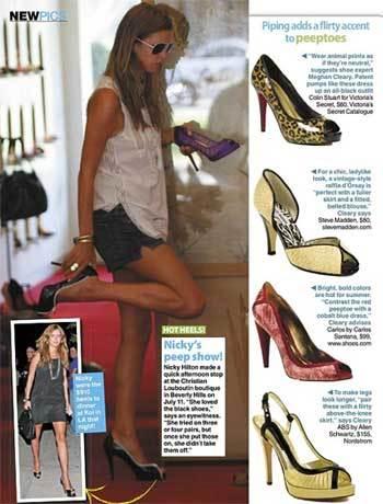 """Zapatos """"peep toe"""", lo último en elegancia"""