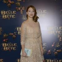 En la premiere de  'La Belle & La Bete'