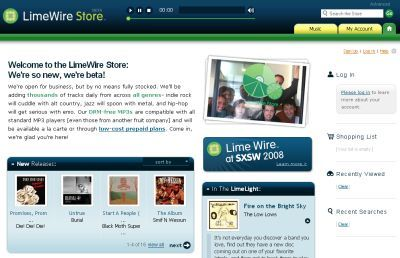 LimeWire Store, música sin DRM