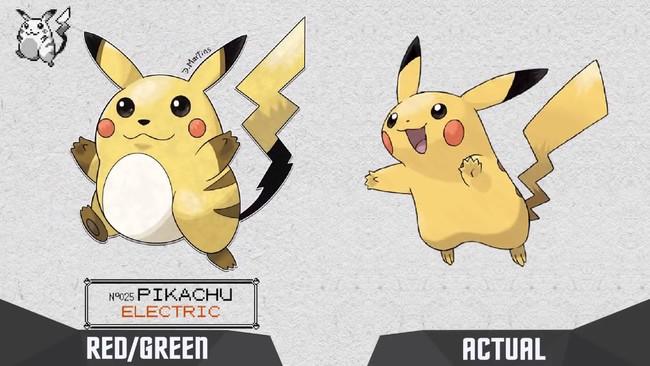 El fascinante cambio de Pikachu y compañía desde los píxeles de Game Boy  a su diseño actual