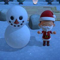 Animal Crossing: New Horizons: cómo crear muñecos de nieve