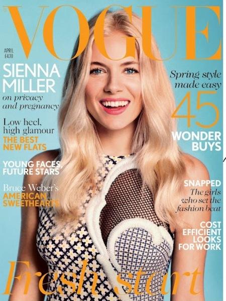 Sienna Miller no se atreve con un pregnant and naked...de momento