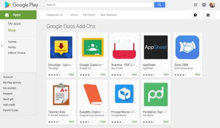 Android Add Ons
