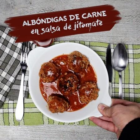 Albondigas Carne Salsa Jitomate Recetas