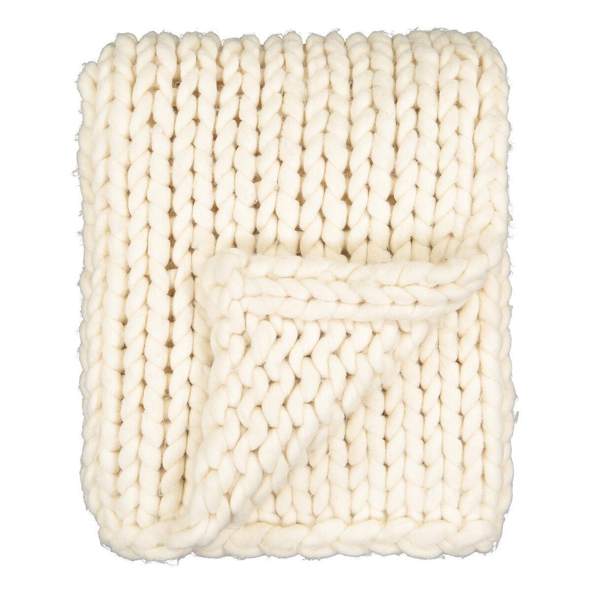 Plaid de punto tricot LAPLAND