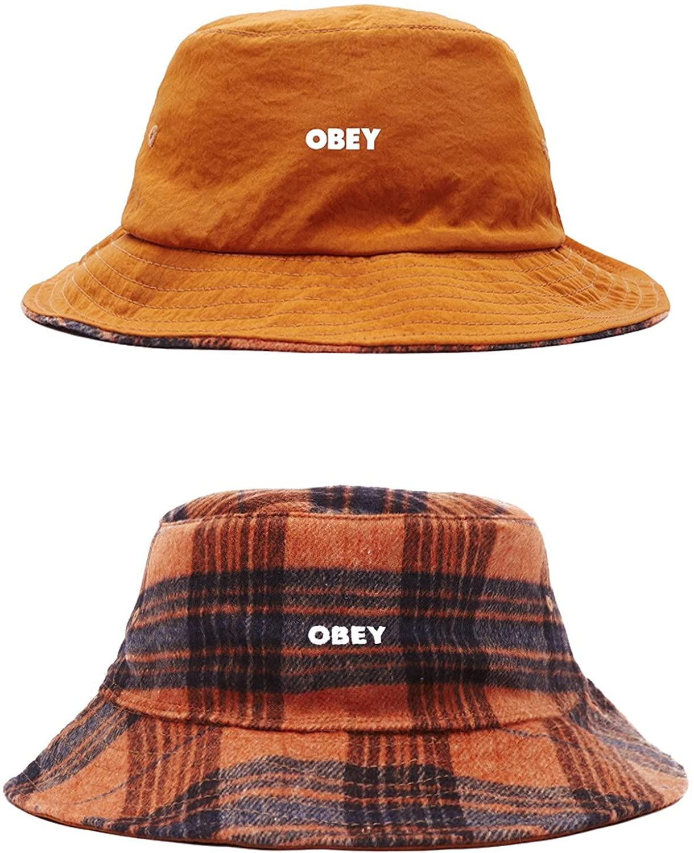 Obey - Sombrero reversible de Bucket Hat impermeable y de franela para pescador, talla única, original 2022