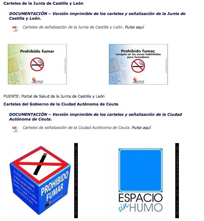 carteles antitabaco