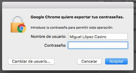 Chrome Exportar Contrasenas Mac 3