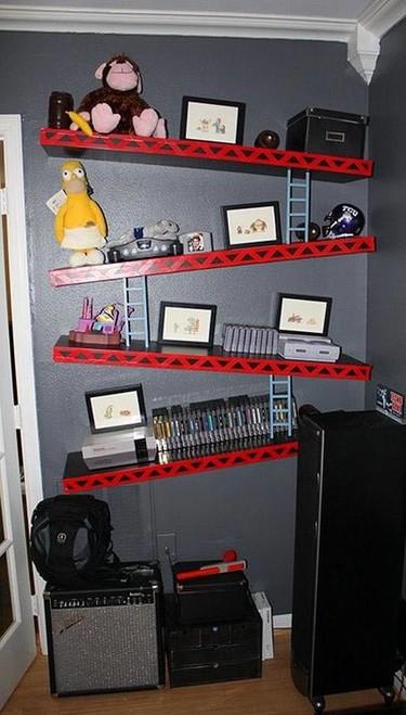 Hazlo tú mismo: estanterías con el estilo Donkey Kong