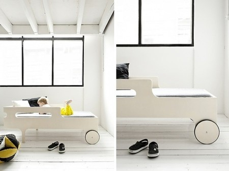 Una buena idea: una cama con ruedas para niños