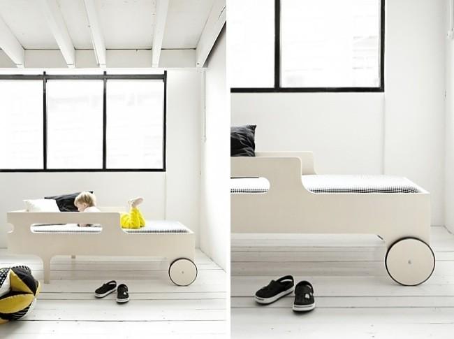 Una buena idea una cama con ruedas para ni os - Ruedas para camas ...