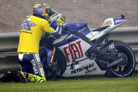 Valentino se despide de su querida Yamaha
