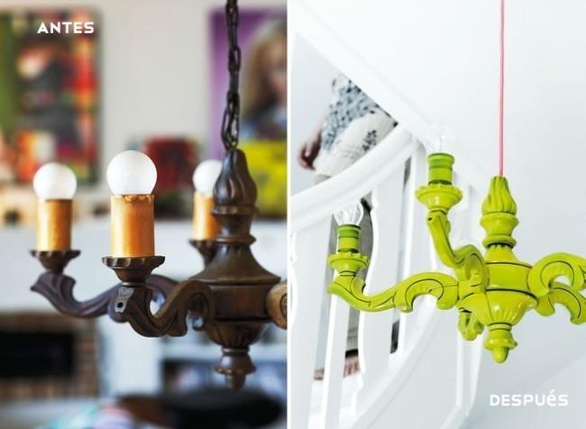 Hazlo t mismo renovando una l mpara cl sica con colores - Pintar lamparas de techo ...