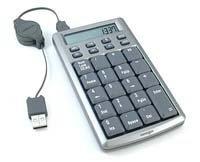 Calculadora y teclado numérico USB, todo en uno