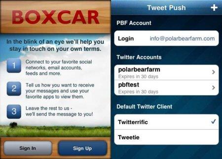 Tweet push y Boxcar, el complemento ideal para Twitter en el iPhone