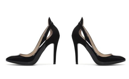Yves Saint Laurent stiletto negro Thorn Zara TRF clon