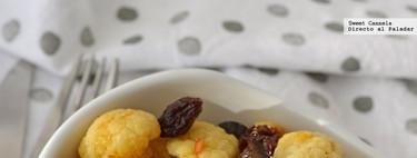 Ensalada de coliflor con aceitunas y azafrán. Receta