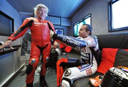 Jorge Lorenzo y Angel Nieto Box TT 2010
