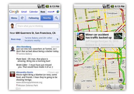 Google Buzz para móviles, aprovechando al máximo las funciones de localización
