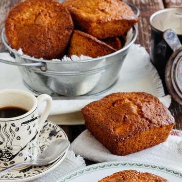 Muffins de avena y manzana. Receta rápida