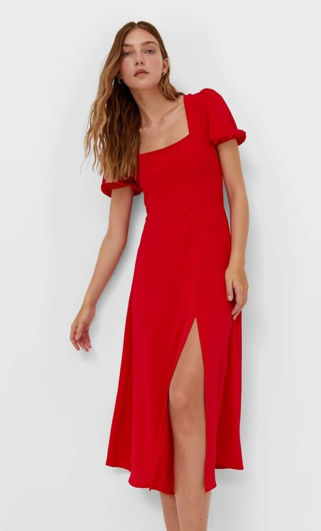 Vestido Rojo Stradivarius
