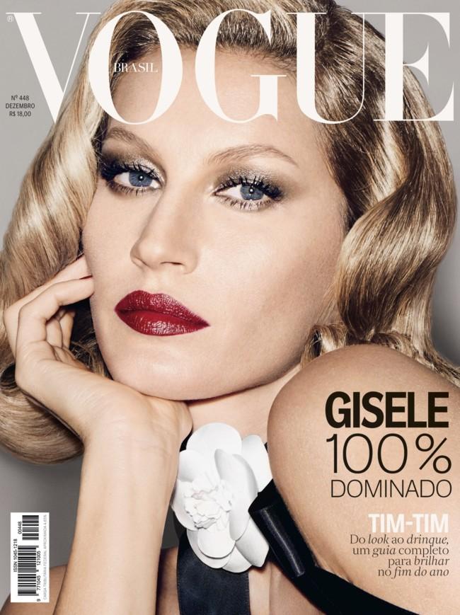 Vogue Brazil December 2015 Gisele Bundchen By Francois Nars 1