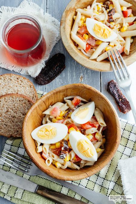 Ensalada Pasta Huevo Ensaladas Saludables Faciles De Preparar Para Este Verano