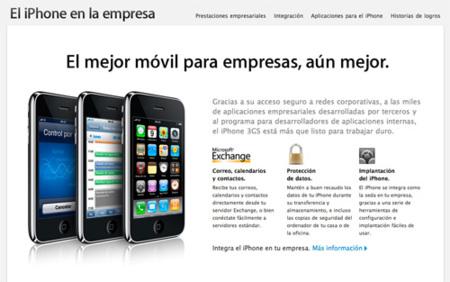 Apple lanza una web dedicada al uso del iPhone en las empresas