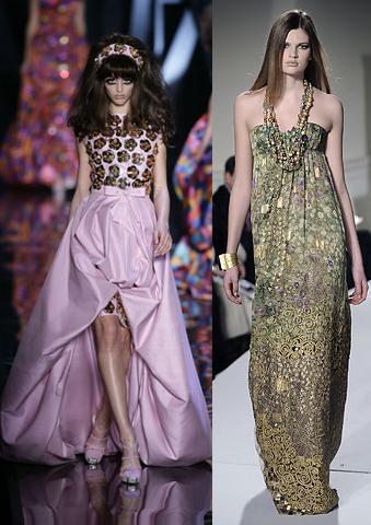 Tendencias en vestidos de fiesta III: Adornos y detalles lujosos