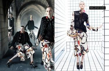 Campaña Otoño-Invierno 2011/2012 Balenciaga: un mismo patrón para todas las imágenes