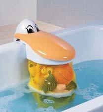 Pelícano para guardar los juguetes del baño