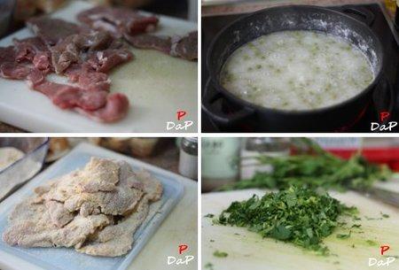 Hacer Filetes de cordero empanados en salsa verde
