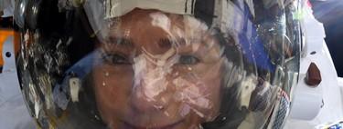 La astronauta Jessica Meir publica este espectacular selfie con la Tierra reflejada en su visor
