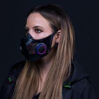 """Project Hazel: el """"cubrebocas inteligente"""" de Razer con RGB, amplificador de voz y un estuche que carga y esteriliza la máscara"""