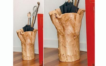 Original paragüero de madera