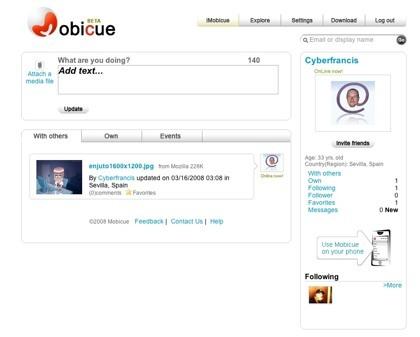 Mobicue, otro clon de Twitter con posibilidad de adjuntar imágenes y vídeos
