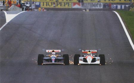 Mansell Senna Montmeló 1991