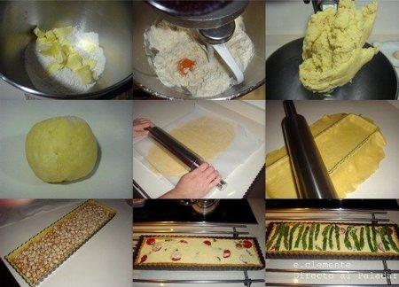 Paso a paso tarta de esparragos verdes y queso Gruyère
