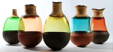 Stacking Vessels: fusión de materiales para formar un bello jarrón-escultura