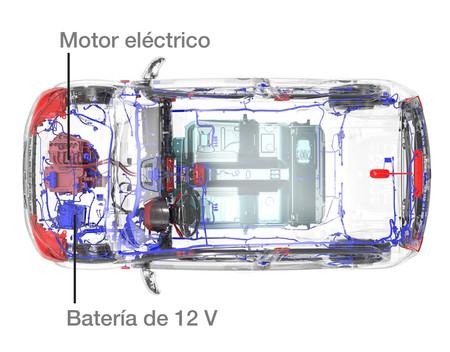 Bateria 12 V Y Motor Coche Elecrico