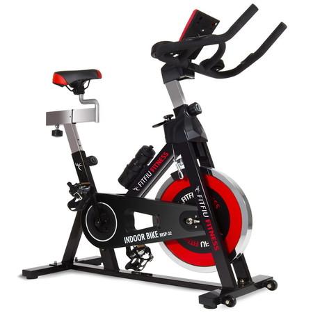 Bicicleta Indoor deportiva regulable Fitfiu con volante de inercia de 24Kg por 149 euros en Ebay